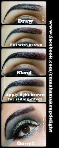 #Picture #Perfect #Eyebrows #Tutorial : http://ow.ly/rUjQn hmm I'll have to try this technique