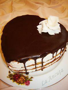 La Ancuţa: Tort aniversar cu ciocolata si lamaie