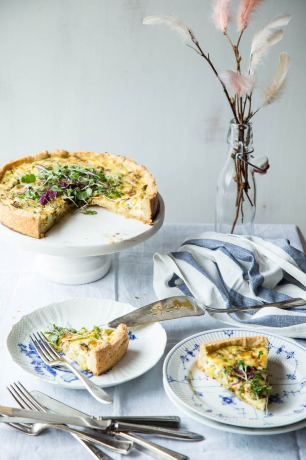 Vasterbotten Cheese Pie with Asparagus | Relish.com