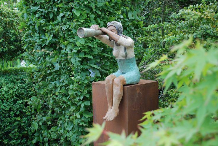 """Jacqueline Desmet """"Telescoop"""" brons"""