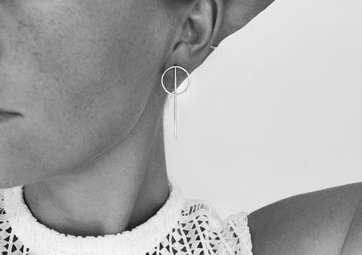 ROD EARRIINGS Sterling silver. Minimalist design by Mila Silver.  Shop online - WWS