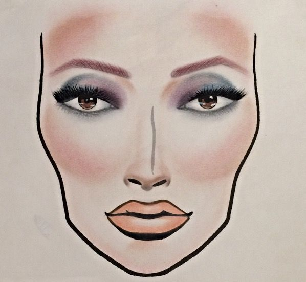 MAC Electric Cool inspired facechart