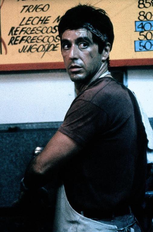 Al Pacino in Scarface                                                                                                                                                                                 Plus