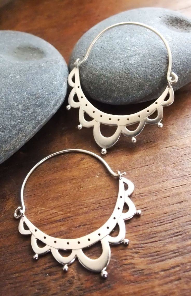Lace Antiquity Sterling Silver Earrings | A Thousand Joys on Etsy