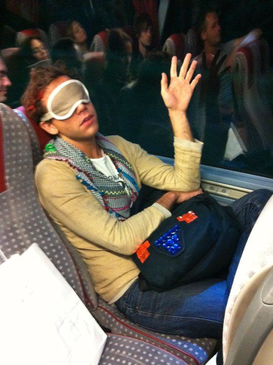 """Mika sleepy 2011 - from the """"Mika Backstage"""" album on Mika's Facebook page"""