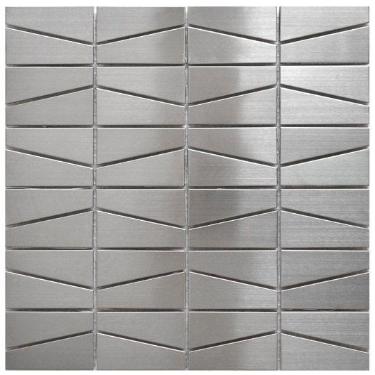 Stainless Steel Tile-Modern Trapezoid Stainless Steel Tile. Eden Mosaic Tile