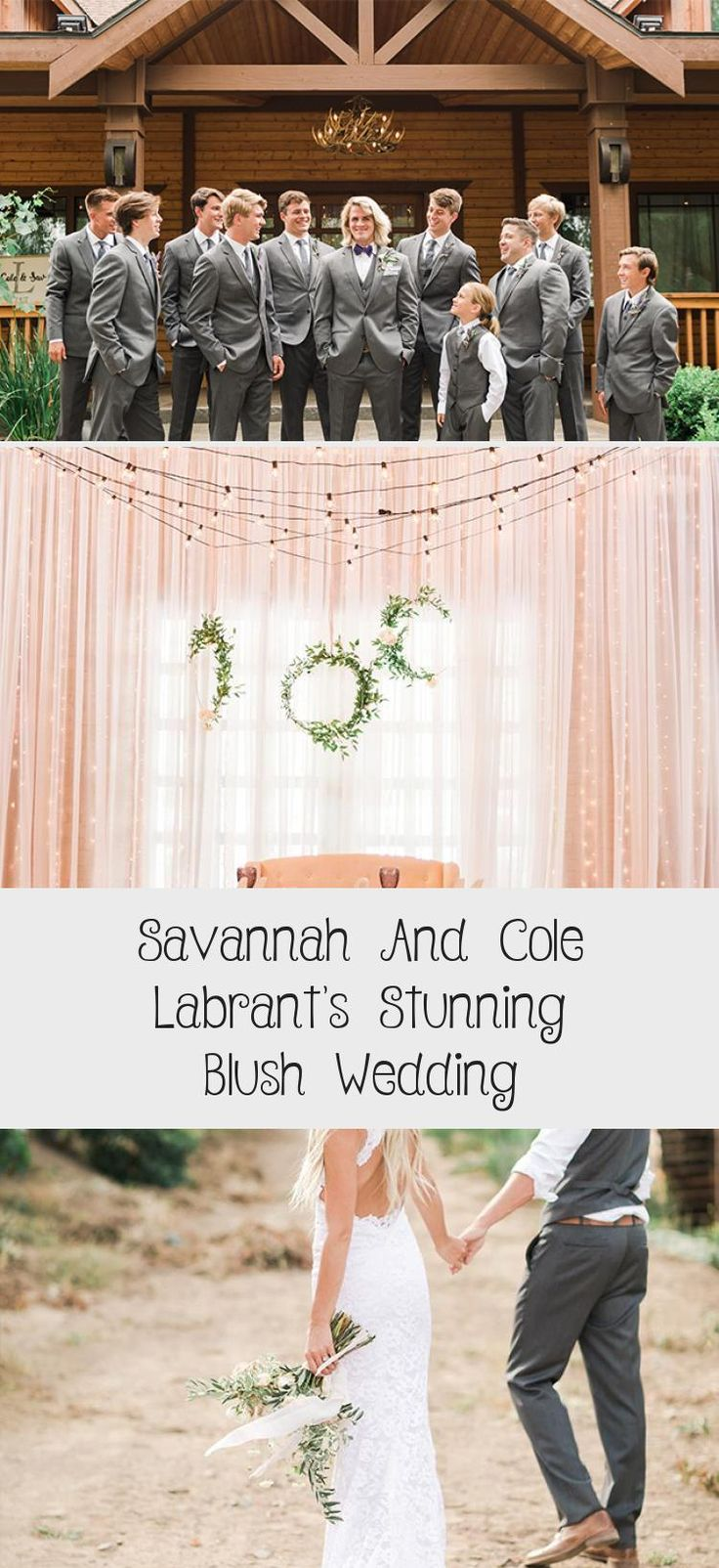 Savannah and Cole LaBrant's Stunning Blush Wedding - Inspired By This #BridesmaidDressesIndian #CasualBridesmaidDresses #BridesmaidDressesWinter #BridesmaidDressesSummer #GreyBridesmaidDresses