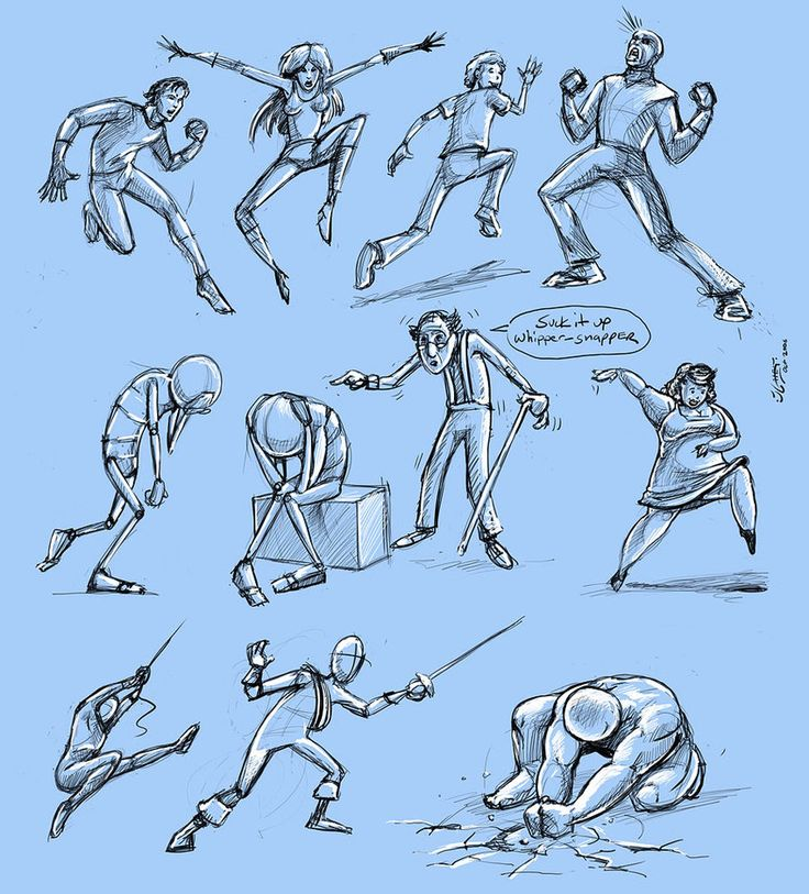 dynamic poses by JoeyGates on deviantART