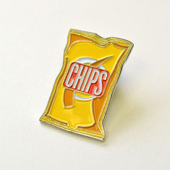 Bag of Chips Pin by Fairgoods on Etsy $9.00