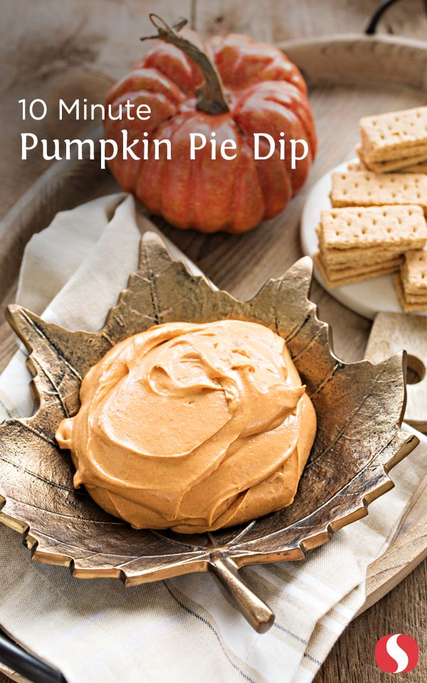 Experience everything you love about pumpkin pie compiled into one dip! This 10 minute Pumpkin Pie dip is a fun and easy recipe the entire family can enjoy!