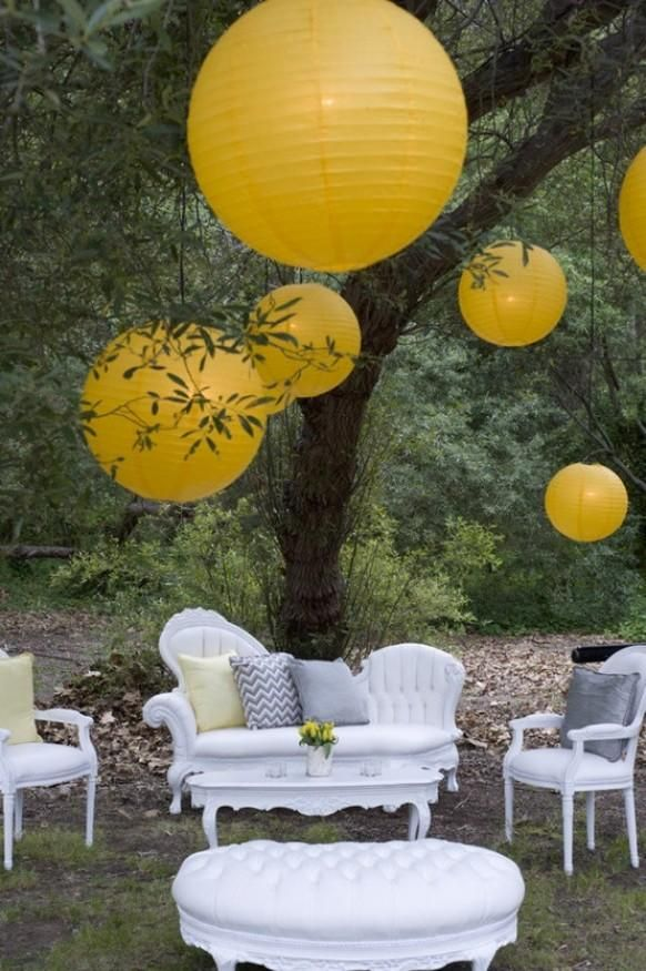 Wedding Decor: Grey & Yellow