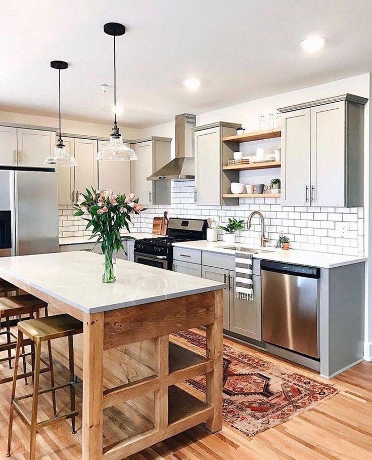 38 Gorgeous Farmhouse Kitchen Island Decor Ideas