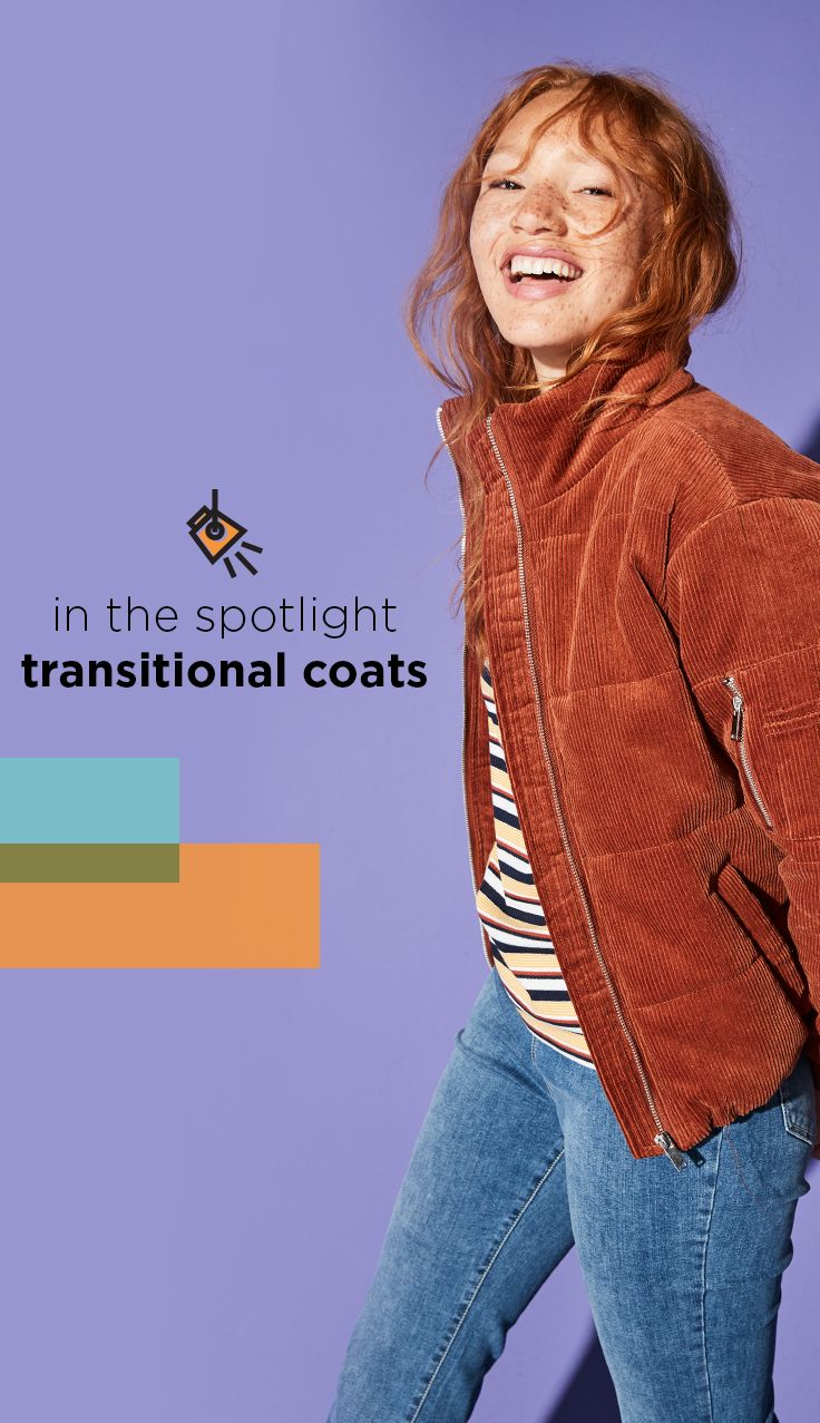 In The Spotlight Find Transitional Coats At Kohl S Ease Into Fall With A Puffer Jacket That S Cozy But Lightweight La Coats For Women Transitional Coat Coat [ 1277 x 736 Pixel ]