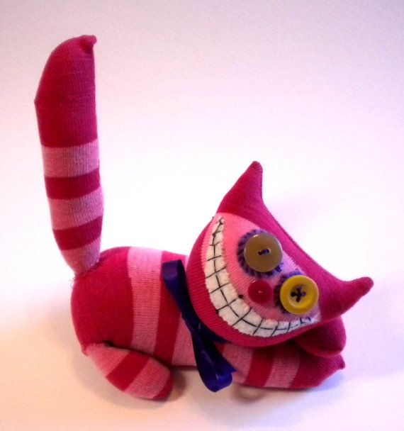 Sock Animal Cheshire Cat Alice in Wonderland