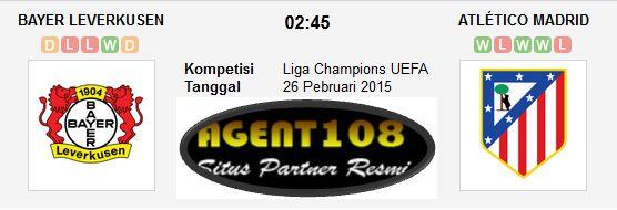 Prediksi Bayer Leverkusen vs Atletico Madrid 26 Februari 2015 Liga Champions