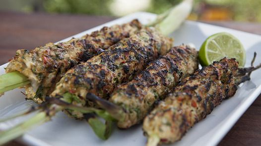 Celebrity chef, author & restaurateur, Adrian Richardson, cooks his Balinese Chicken Satay BBQ Recipe on highly rated TV show Good Chef Bad Chef.