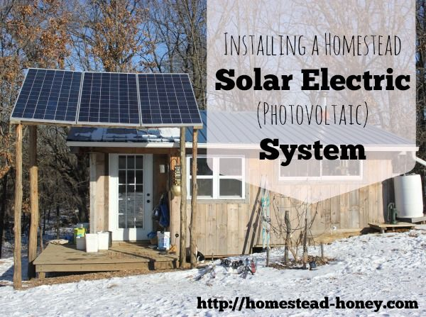 We recently purchased a solar electric system, and did the installation ourselves. Here's a look at how we installed our solar electric system. | Homestead Honey
