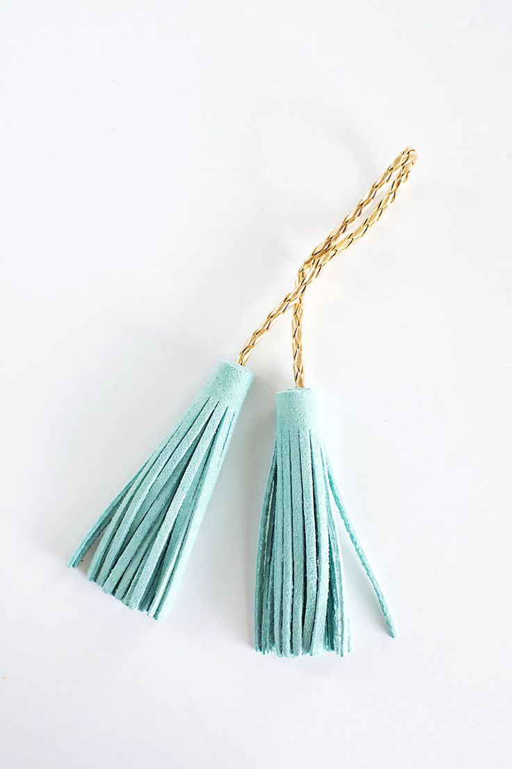 DIY suede tassels from MichaelsMakers Homey Oh My
