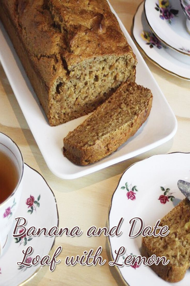 Banana and Date Loaf with Lemon