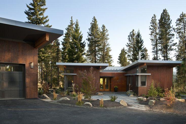 Prefab home designer Stillwater Dwellings, exterior of sd134 model home.