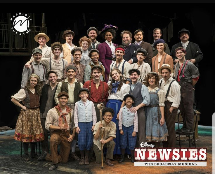 Disney's NEWSIES in the Marriott Theatre in Chicago, starring Patrick Rooney as Jack Kelly and Eliza Palasz as Katherine Plumber (playing through December 31, 2017)