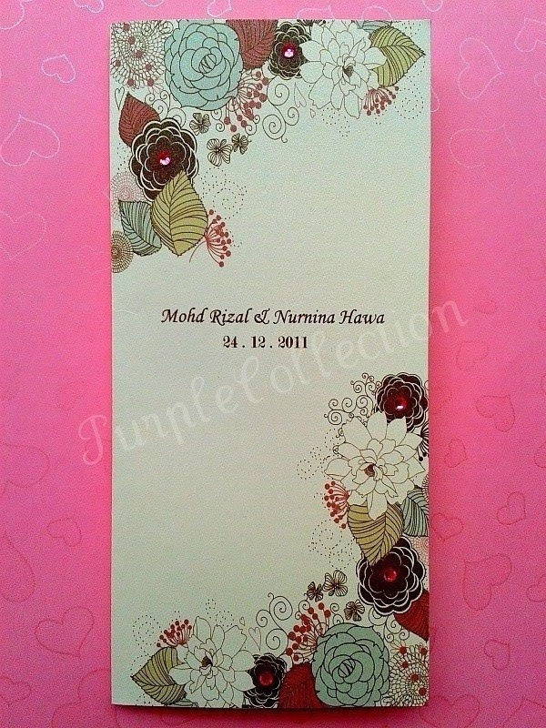 handmade wedding cards ireland%0A Handmade Malay Wedding Invitation Card   Kad Jemputan Kahwin