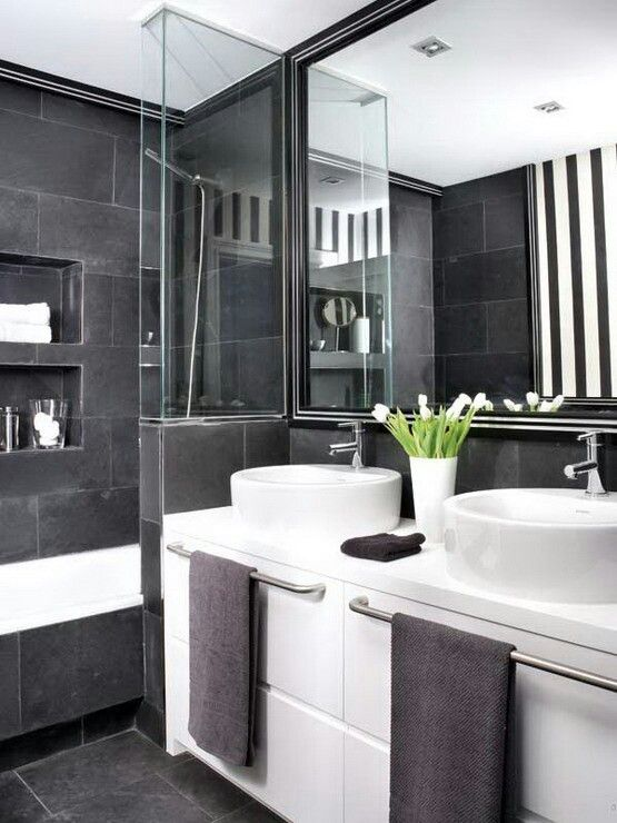 cool black and white bathroom design ideas black and white is a quite popular color theme nowadays you can easily use it in a bathroom to make it look