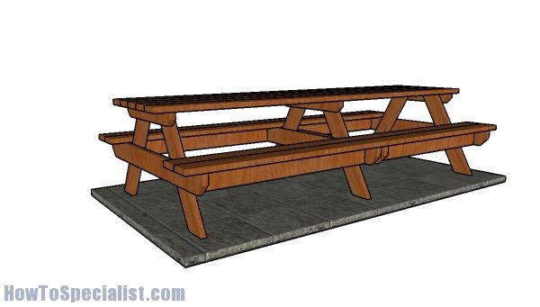 17 best ideas about picnic table plans on pinterest for 10 ft picnic table