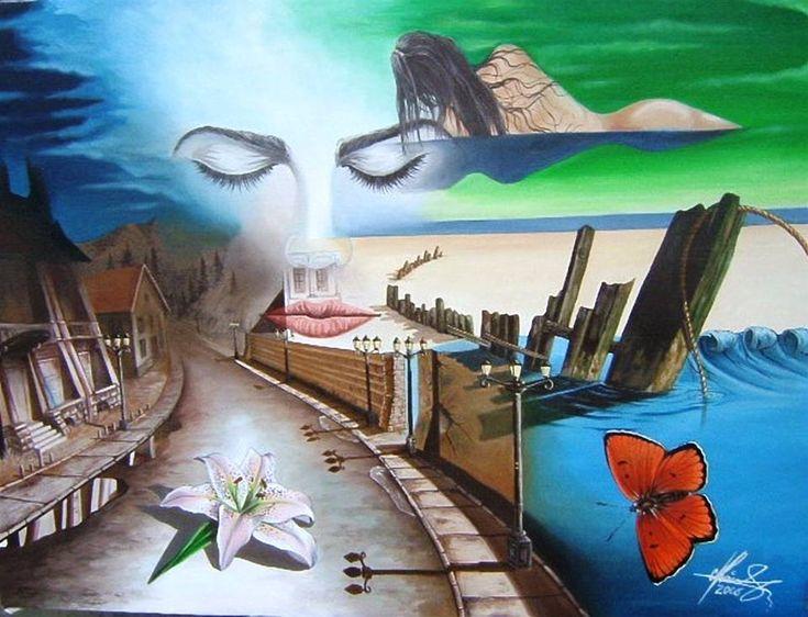 """""""Silent Dream"""" - Oil on canvas.   #art #painter #painture #surrealism"""
