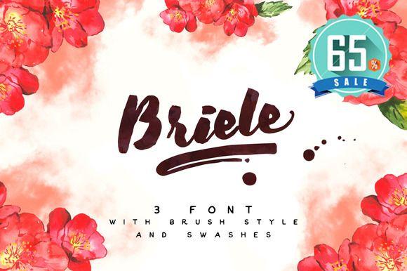 Briele Font Pack (3 fonts) + Swashes by Awakening Studios on Creative Market