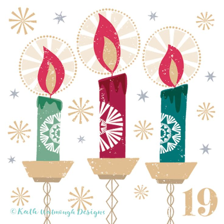 Christmas Calendar Illustration : Best images about candles illustrations on pinterest