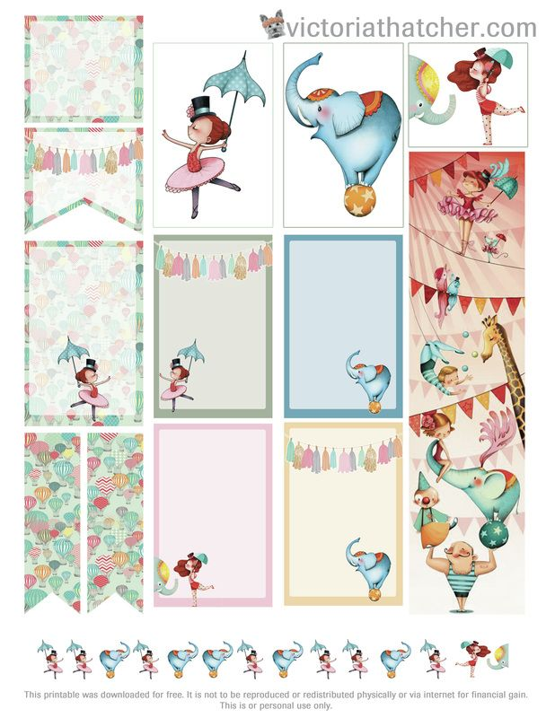 Free Circus Planner Stickers | Victoria Thatcher