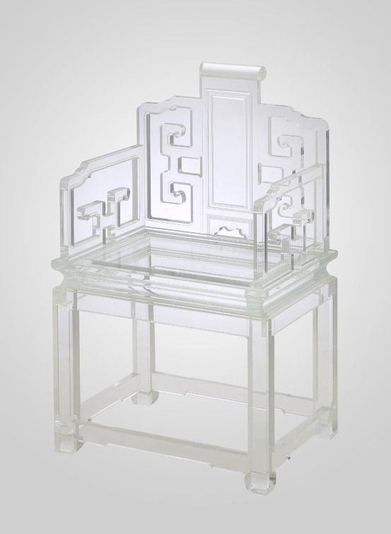 Acrylic Chinoiserie I Love This The Ghost Chair