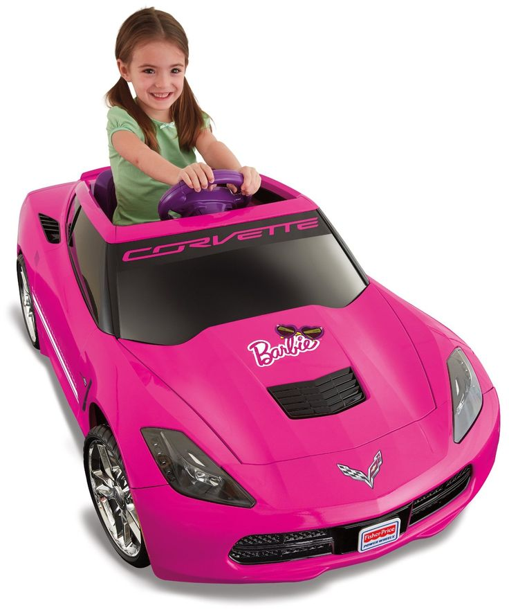 walmart fisher price power wheels girls barbie corvette battery powered ride on