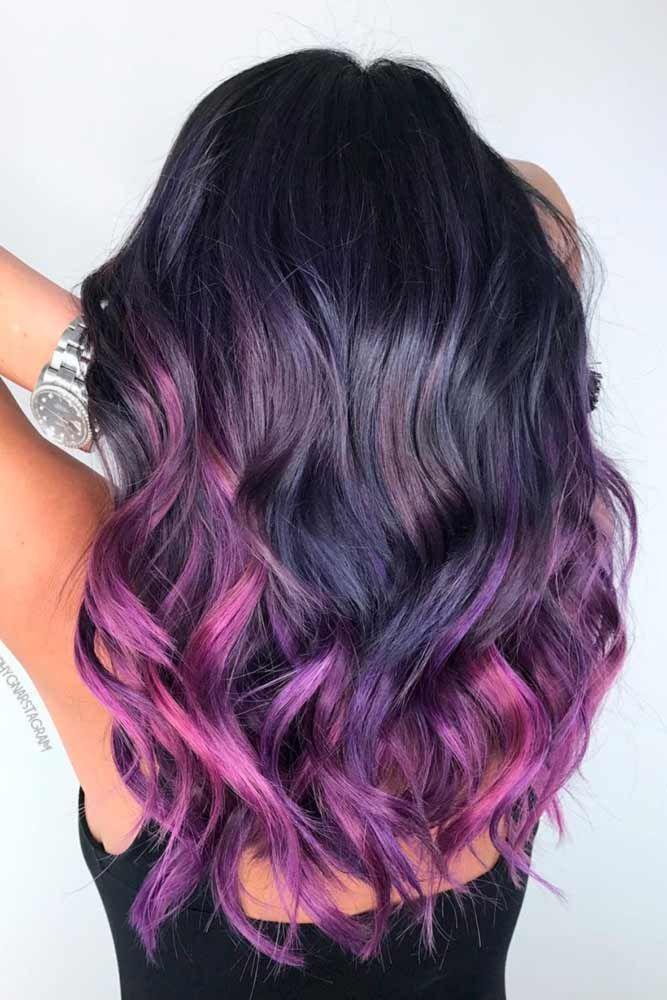 35 Unique Purple And Black Hair Combinations Hair Color