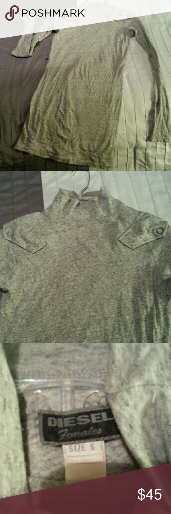 Diesel tunic/mini dress Excellent condition. Long enough to wear as mini dress also.  Thin knit material. Diesel Tops Tunics