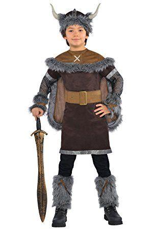 Boys Fancy Dress-Costume da guerriero vichingo storico Saxon Costume medievale, 4-6 anni