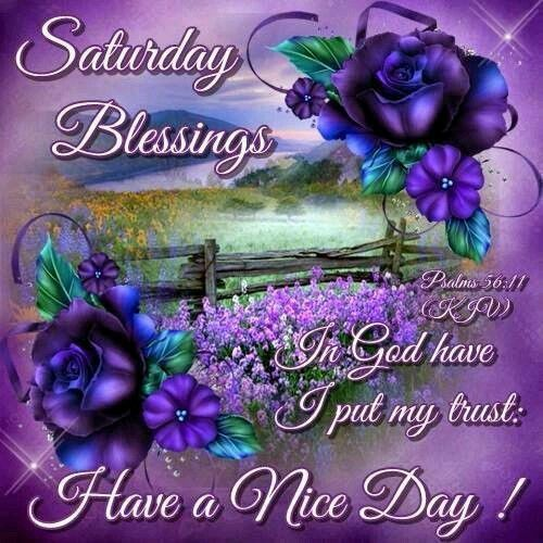 Saturday Blessings, Have A Nice Day! saturday saturday quotes saturday blessings saturday images