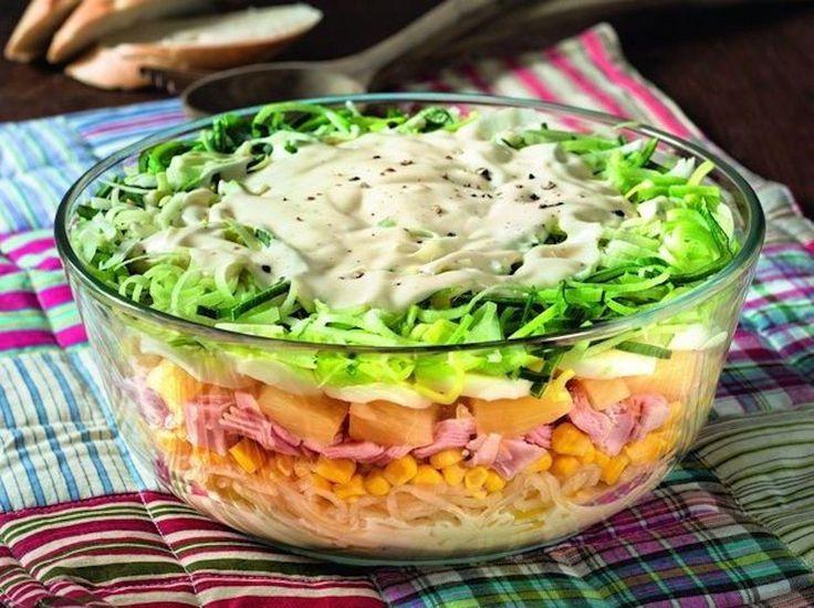 Schichtsalat mit Lauch und 87.000 weitere Rezepte entdecken auf DasKochrezept.de