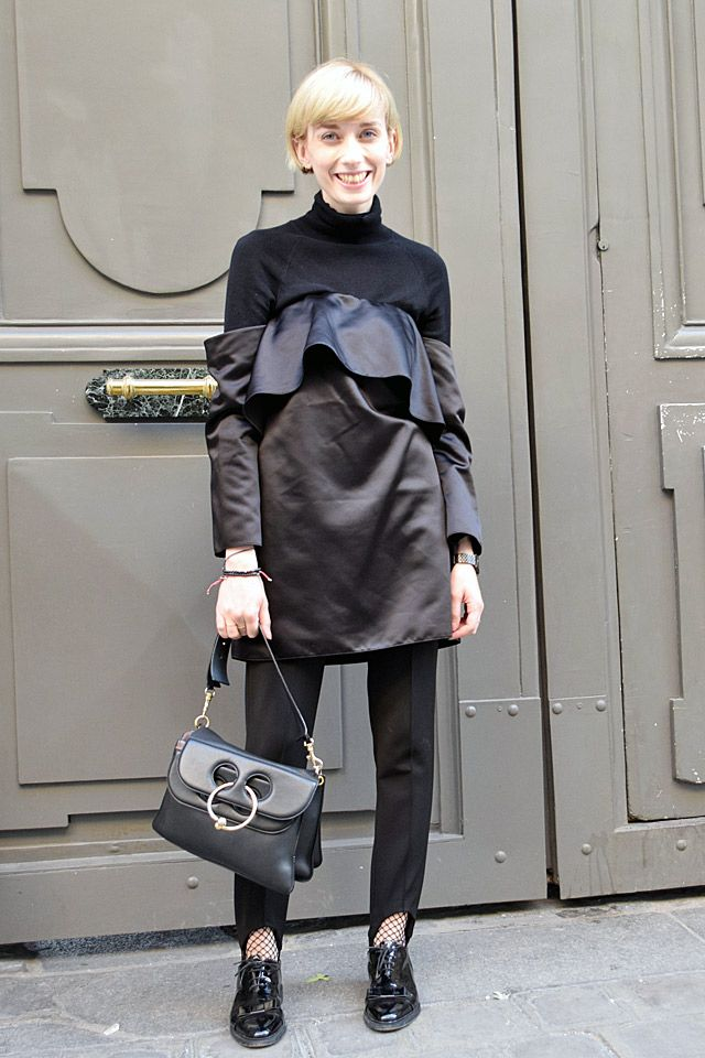 Hi and low mix. Zara outfit combined with J. W. Anderson bag and Thom Browne shoes.