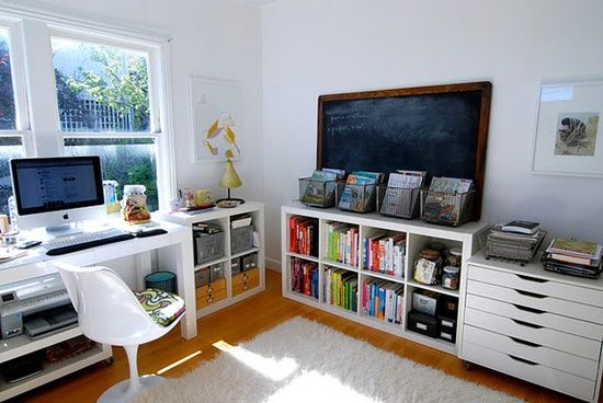 simple office organization ideas office work pinterest. Black Bedroom Furniture Sets. Home Design Ideas