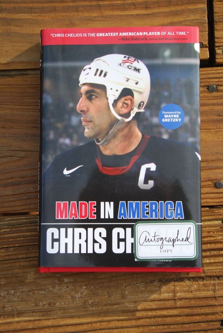 Made in America signed by NHL Hall of Famer Chris Chelios