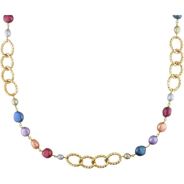 Ice Freshwater Pearl Necklace ($145) ❤ liked on Polyvore featuring jewelry, necklaces, women's accessories, multi color necklace, multicolor necklace, twist jewelry, freshwater pearl necklace and freshwater cultured pearl necklace