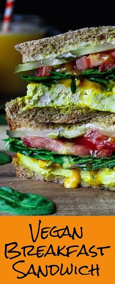 Who wants one of these savory & hearty vegan breakfast sandwiches? Check out this easy and delicious recipe over at Vegan Huggs. See you there! #veganbreakfast #breakfastsandwich Vegan Breakfast Sandwich - http://veganhuggs.com/vegan-breakfast-sandwich/