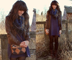 layers scarf jacket boots
