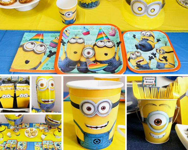 17 best ideas about minion party supplies on pinterest. Black Bedroom Furniture Sets. Home Design Ideas
