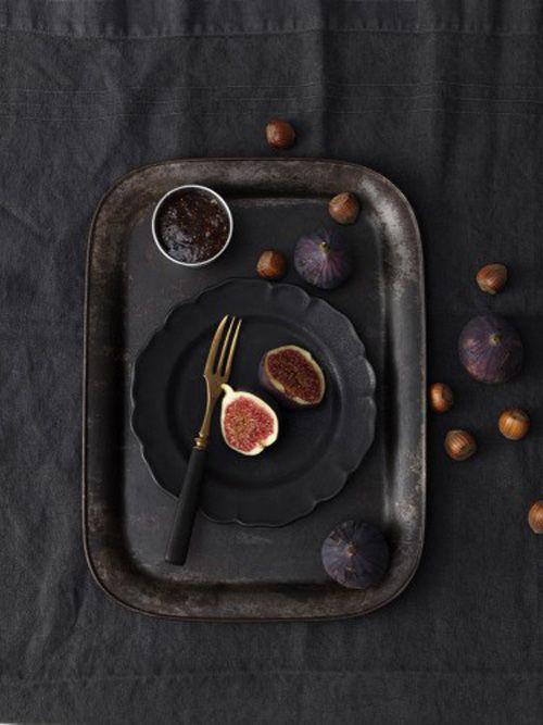 blackFruit, Food Style, Inspiration, Colors, Black On Black, Matte Black, Linda Lundgren, Food Photography, Figs