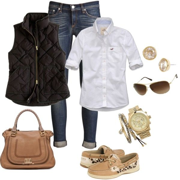 A fashion look from January 2013 featuring embroidered shirts, zip vest and skinny jeans. Browse and shop related looks.