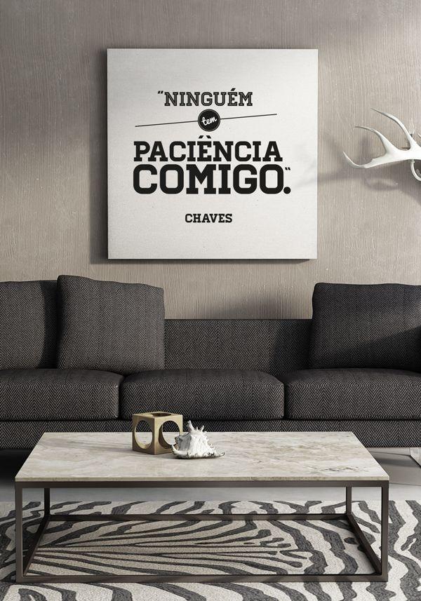 Frases inconfundíveis da série Chaves viram cartazes de design