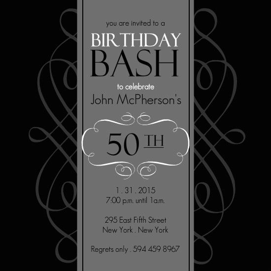 50th Birthday Invitation Template Free Under Fontanacountryinn Com